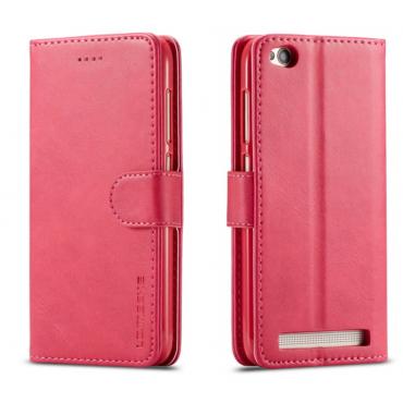 Луксозен кожен флип калъф/тип тефтер за Xiaomi Redmi 5A, LC.IMEEKE, Розов