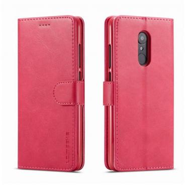 Луксозен кожен флип калъф/тип тефтер за Xiaomi Redmi 5 Plus, LC.IMEEKE, Розов
