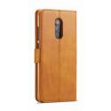 Луксозен кожен флип калъф/тип тефтер за Xiaomi Redmi 5 Plus, LC.IMEEKE, Светлокафяв