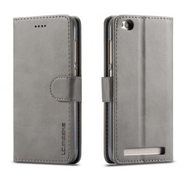 Луксозен кожен флип калъф/тип тефтер за Xiaomi Redmi 5A, LC.IMEEKE, Сив