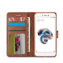 Луксозен кожен флип калъф/тип тефтер за Xiaomi Redmi 5A, LC.IMEEKE, Тъмнокафяв