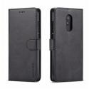 Луксозен кожен флип калъф/тип тефтер за Xiaomi Redmi 5 Plus, LC.IMEEKE, Черен