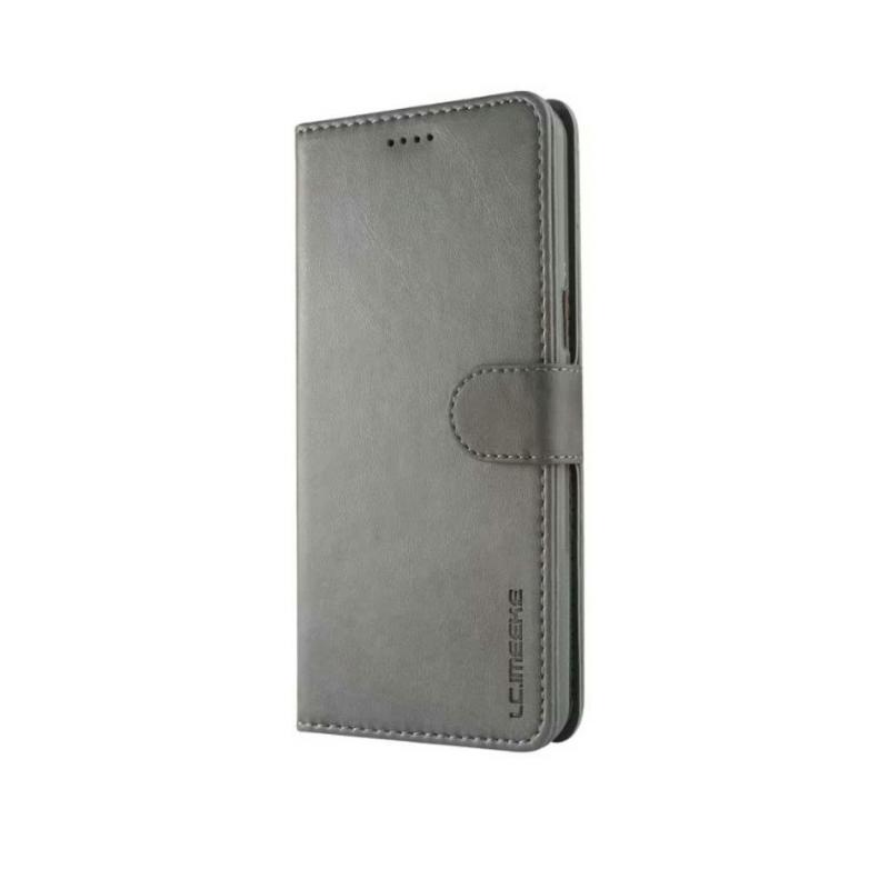 Луксозен кожен флип калъф/тип тефтер за OnePlus 5T, LC.IMEEKE, Сив