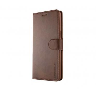 Луксозен кожен флип калъф/тип тефтер за OnePlus 5T, LC.IMEEKE, Тъмнокафяв
