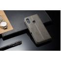 Луксозен кожен флип калъф/тип тефтер за Xiaomi Redmi 6 Pro, LC.IMEEKE, Сив