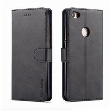 Луксозен кожен флип калъф/тип тефтер за Xiaomi Redmi Note 5A, LC.IMEEKE, Черен