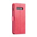 Луксозен кожен флип калъф/тип тефтер за Samsung Galaxy S10 Plus, LC.IMEEKE, Розов