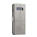Луксозен кожен флип калъф/тип тефтер за Samsung Galaxy S10 Plus, LC.IMEEKE, Сив