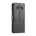 Луксозен кожен флип калъф/тип тефтер за Samsung Galaxy S10 Plus, LC.IMEEKE, Черен