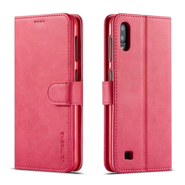 Луксозен кожен флип калъф/тип тефтер за Samsung Galaxy M10, LC.IMEEKE, Розов