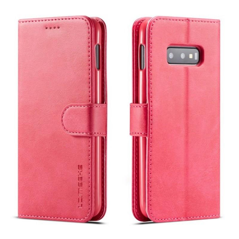 Луксозен кожен флип калъф/тип тефтер за Samsung Galaxy S10e/ S10 Lite, LC.IMEEKE, Розов