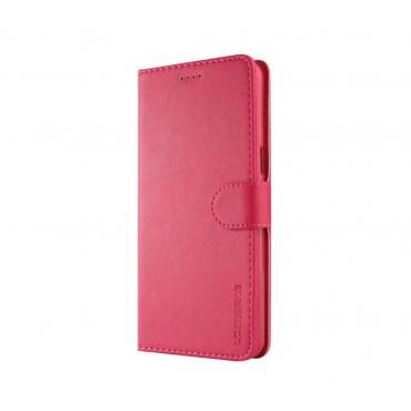 Луксозен кожен флип калъф/тип тефтер за OnePlus 5T, LC.IMEEKE, Розов