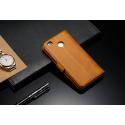 Луксозен кожен флип калъф/тип тефтер за Xiaomi Redmi 4, LC.IMEEKE, Светлокафяв