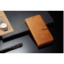 Луксозен кожен флип калъф/тип тефтер за Xiaomi Redmi 6 Pro, LC.IMEEKE, Светлокафяв