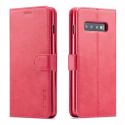 Луксозен кожен флип калъф/тип тефтер за Samsung Galaxy S10, LC.IMEEKE, Розов