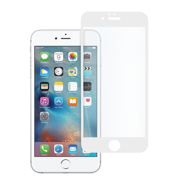 5D стъклен протектор за цял дисплей за iPhone 6, Hicute, Цяло лепило, Бял