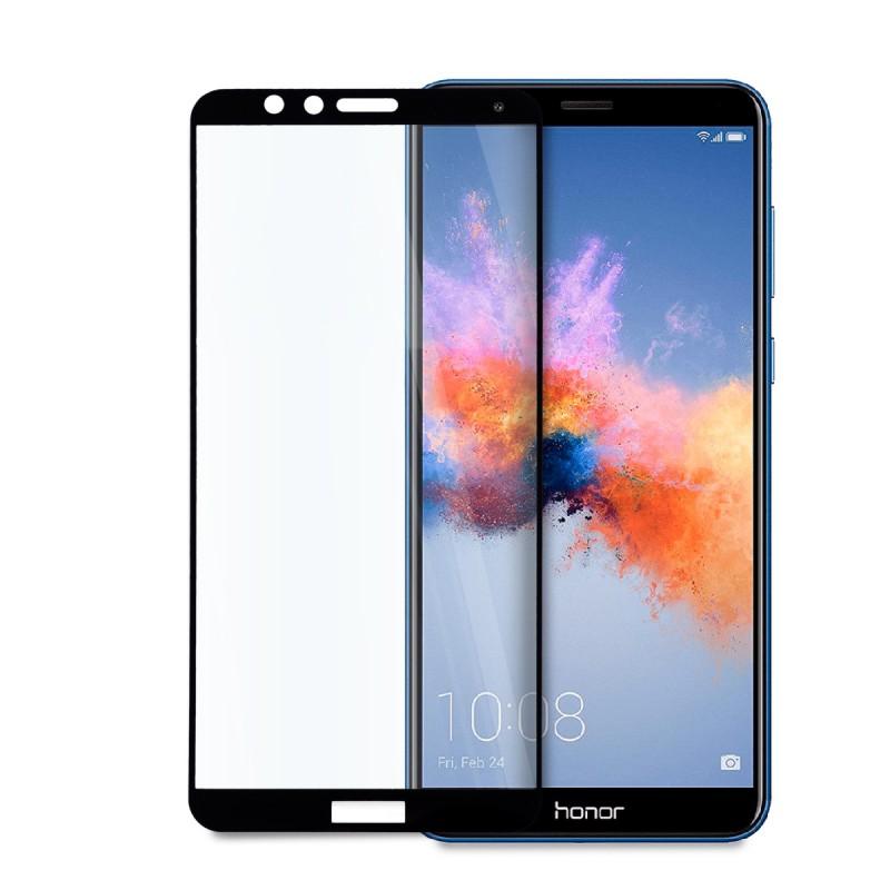 5D стъклен протектор за цял дисплей за Huawei Honor 7X, Hicute, Цяло лепило, Черен