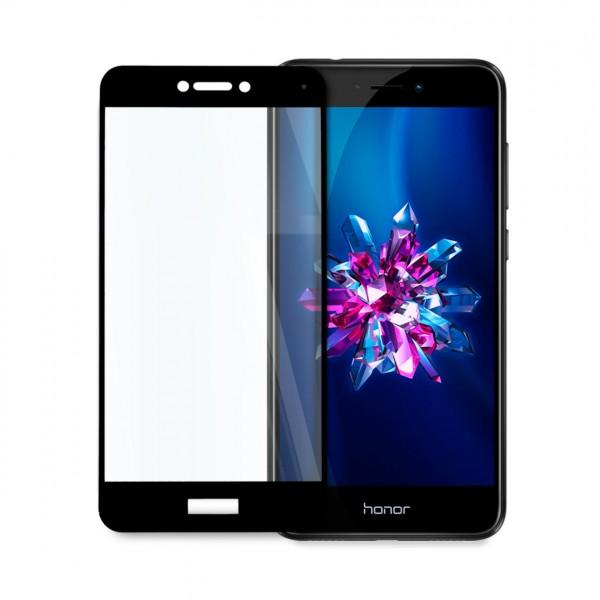 5D стъклен протектор за цял дисплей за Huawei Honor 8 Lite, Tech Armor, Цяло лепило, Черен