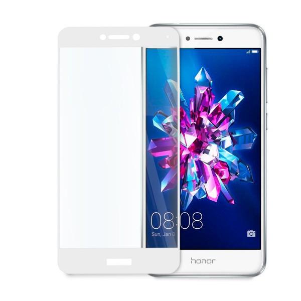 Стъклен протектор за цял дисплей за Huawei Honor 8 Lite, Hicute, Цяло лепило, Бял