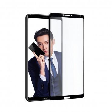 5D стъклен протектор за цял дисплей за Huawei Honor Note 10, Hicute, Цяло лепило, Черен