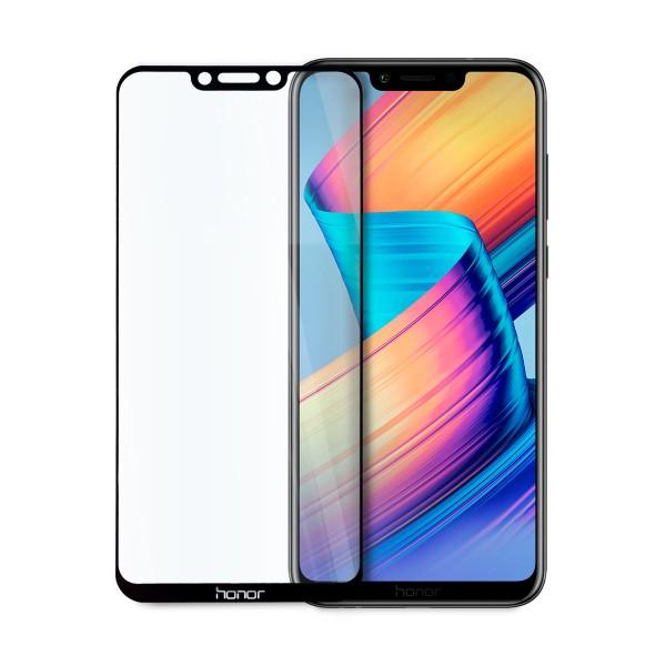 5D стъклен протектор за цял дисплей за Huawei Honor Play, Hicute, Цяло лепило, Черен