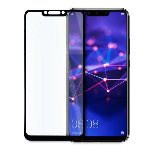 5D стъклен протектор за цял дисплей за Huawei Mate 20 Lite, Tech Armor, Цяло лепило, Черен