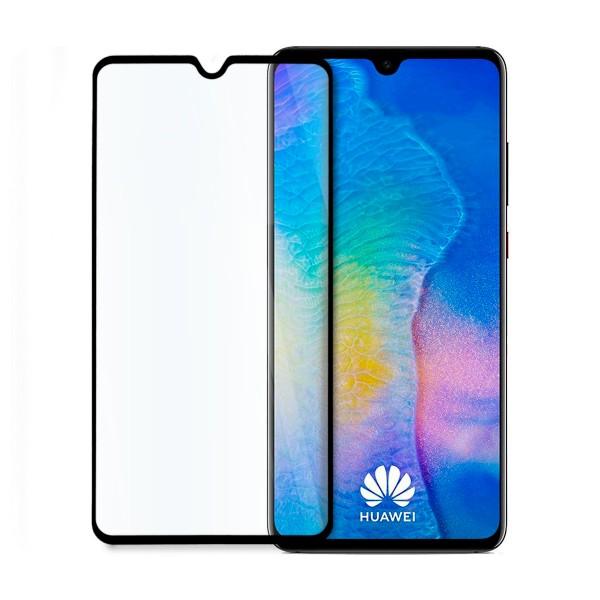5D стъклен протектор за цял дисплей за Huawei Mate 20, Hicute, Цяло лепило, Черен