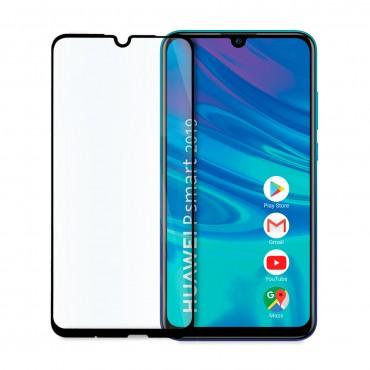 5D стъклен протектор за цял дисплей за Huawei P Smart (2019), Hicute, Цяло лепило, Черен