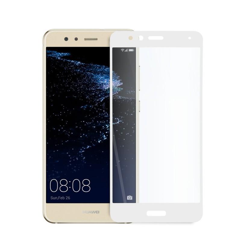 5D стъклен протектор за цял дисплей за Huawei P10 Lite, Hicute, Цяло лепило, Бял