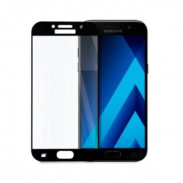 5D стъклен протектор за цял дисплей за Samsung Galaxy А5 (2017), Hicute, Цяло лепило, Черен