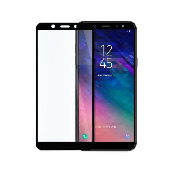 5D стъклен протектор за цял дисплей за Samsung Galaxy А6 (2018), Hicute, Цяло лепило, Черен