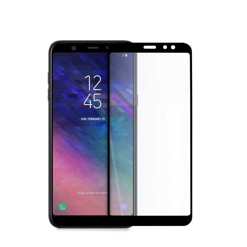 5D стъклен протектор за цял дисплей за Samsung Galaxy А6 Plus (2018), Hicute, Цяло лепило, Черен