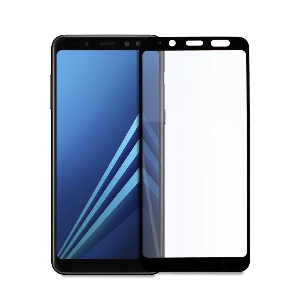 5D стъклен протектор за цял дисплей за Samsung Galaxy А8 (2018), Hicute, Цяло лепило, Черен