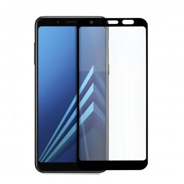 5D стъклен протектор за цял дисплей за Samsung Galaxy А8 Plus (2018), Hicute, Цяло лепило, Черен