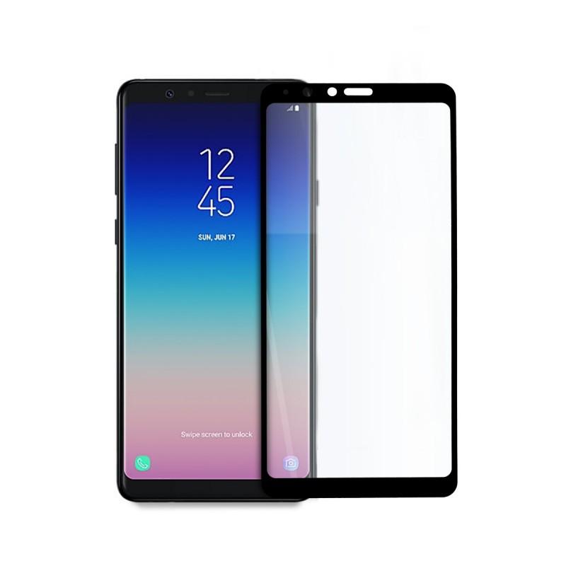 5D стъклен протектор за цял дисплей за Samsung Galaxy А8 Star/A9 Star (2018), Hicute, Цяло лепило, Черен