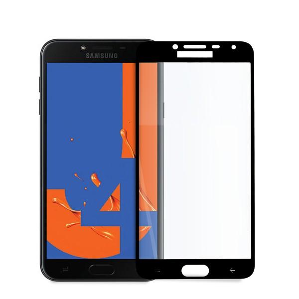 5D стъклен протектор за цял дисплей за Samsung Galaxy J4 (2018), Hicute, Цяло лепило, Черен