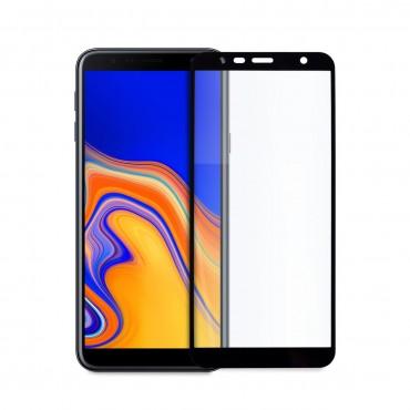 5D стъклен протектор за цял дисплей за Samsung Galaxy J4 Plus (2018), Hicute, Цяло лепило, Черен