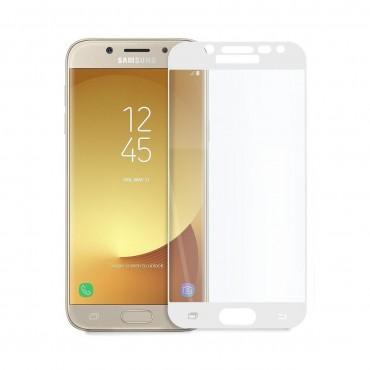 5D стъклен протектор за цял дисплей за Samsung Galaxy J5 (2017), Hicute, Цяло лепило, Бял