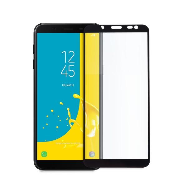 5D стъклен протектор за цял дисплей за Samsung Galaxy J6 (2018), Tech Armor, Цяло лепило, Черен