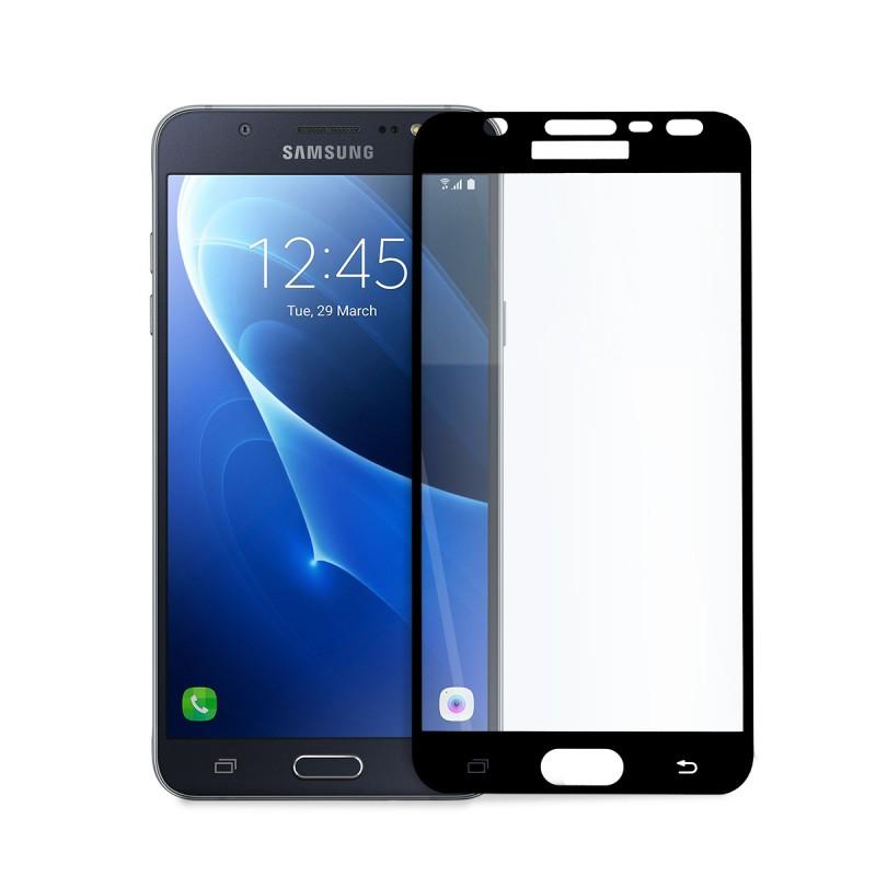 5D стъклен протектор за цял дисплей за Samsung Galaxy J7 (2016), Hicute, Цяло лепило, Черен