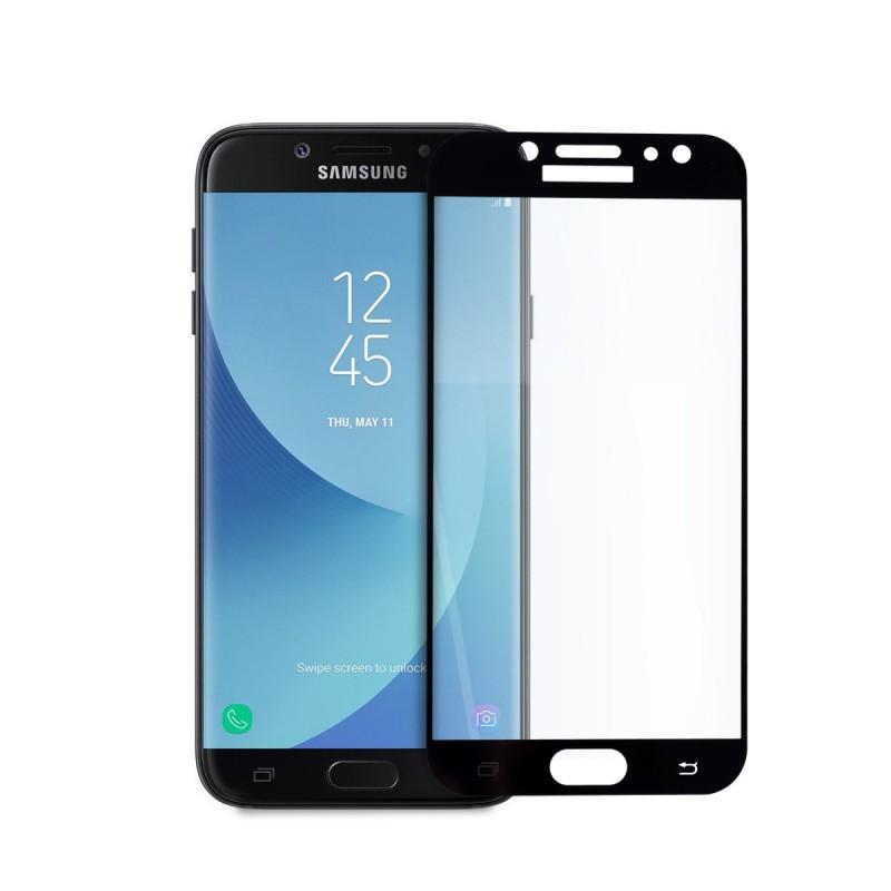 5D стъклен протектор за цял дисплей за Samsung Galaxy J7 (2017), Hicute, Цяло лепило, Черен