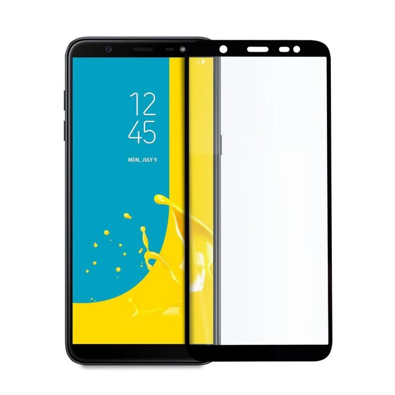 5D стъклен протектор за цял дисплей за Samsung Galaxy J8 (2018), Hicute, Цяло лепило, Черен