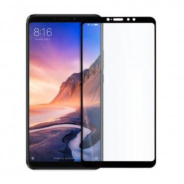 5D стъклен протектор за цял дисплей за Xiaomi Mi Max 3, Hicute, Цяло лепило, Черен