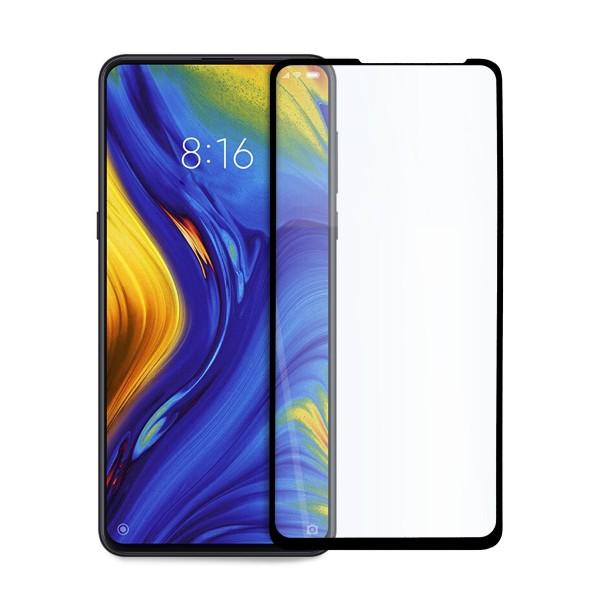 5D стъклен протектор за цял дисплей за Xiaomi Mi Mix 3, Hicute, Цяло лепило, Черен