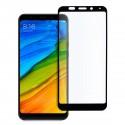 5D стъклен протектор за цял дисплей за Xiaomi Redmi 5 Plus, Hicute, Цяло лепило, Черен