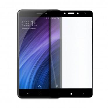 5D стъклен протектор за цял дисплей за Xiaomi Redmi Note 4X, Hicute, Цяло лепило, Черен