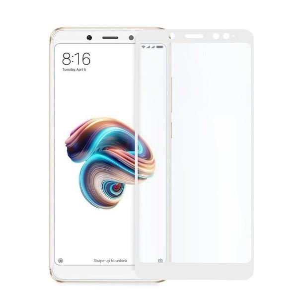 5D стъклен протектор за цял дисплей за Xiaomi Redmi Note 5 / Note 5 Pro, Hicute, Цяло лепило, Бял