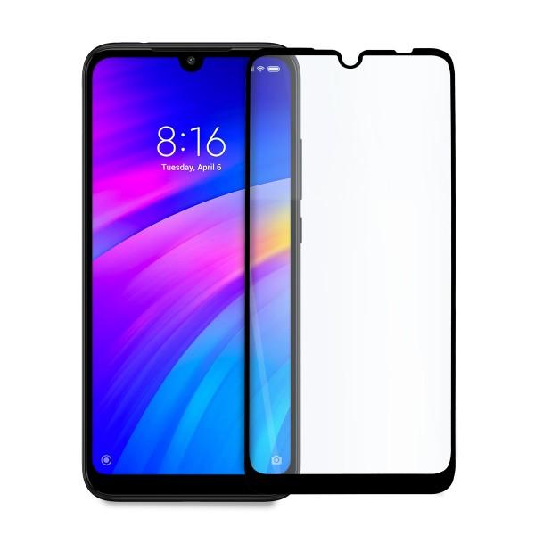 5D стъклен протектор за цял дисплей за Xiaomi Redmi Note 7 / Note 7 Pro, Hicute, Цяло лепило, Черен