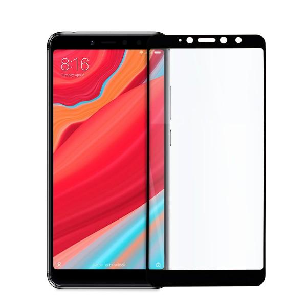 5D стъклен протектор за цял дисплей за Xiaomi Redmi S2, Hicute, Цяло лепило, Черен