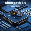 Безжични Слушалки TWS F-9, Bluetooth 5.0, С Powerbank 2000mAh, Бели